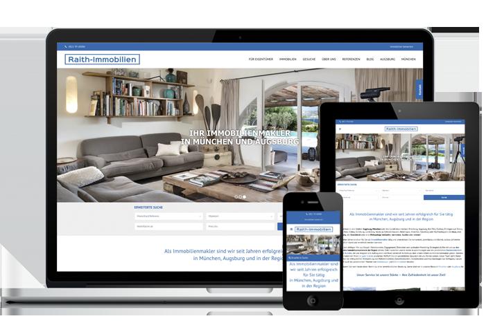 Raith Immobilien Webauftritt